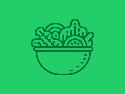 Salad bowl icon green healthy food vector icon bowl salad
