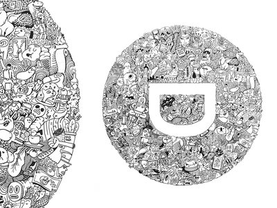 Doodle for Designit Pt.2 mural designit letter d marker wall wall art design doodle cartoon illustration