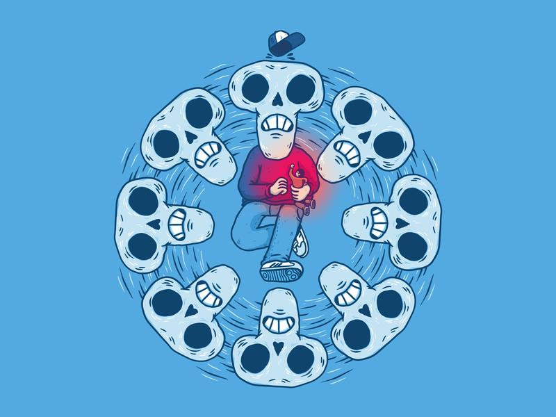 Skull kid playing