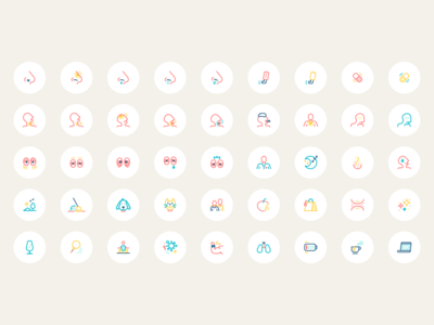 Respiratory Health App - Iconogrphy