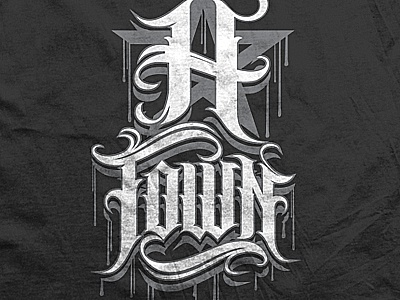 h town t shirt lettering by andrey chernevich dribbble dribbble