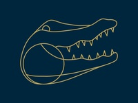 Alligator design illustration texture illustrator
