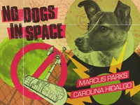 No Dogs In Space typography texture photoshop