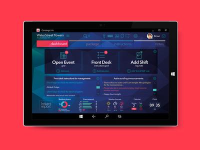 Concierge Link bixlabs windows uidesign tablet dashboard application app organization