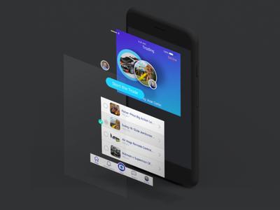 T4T Isometric app design mockup ux ui design