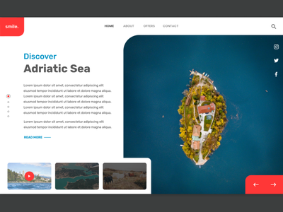 Adriatic Sea island turist turism coast croatia nature indicator video socialnetwork web ui ux