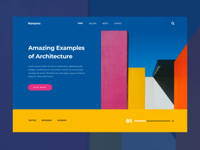 Color experiment read more search menu arhitecture colorful colors ui web design website web