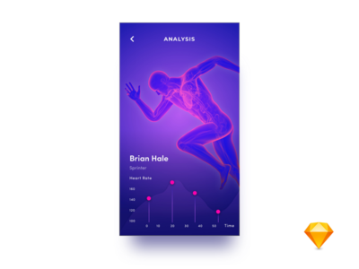 Player Analysis gradient graph game player sketch weekly rate sports ux ui