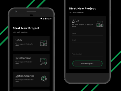 weekly UI #03 Start New Project framer sketch project us contact form motion development black weekly ux ui