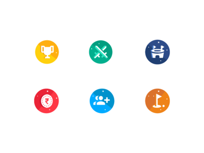 Icons sets friends iconography stadium fight sword games money ui login contact trophy icons