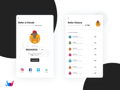 Refer a Friends cute interaction icons ai sketch minimal flat gif animation ux illustration ui