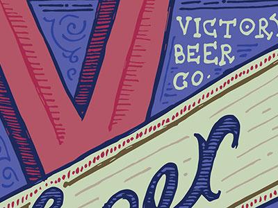 Skillshare Label Victory skillshare victory beer label hand-drawn