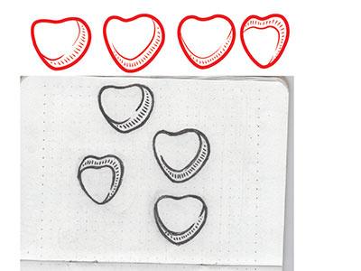 Vector Hearts hearts sketch illustrator