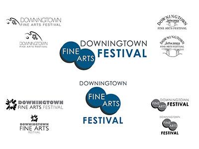 Downingtown Fine Arts Festival Logo logo fine art festival