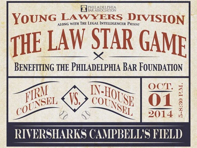 The Law Star Game lawyers baseball vintage
