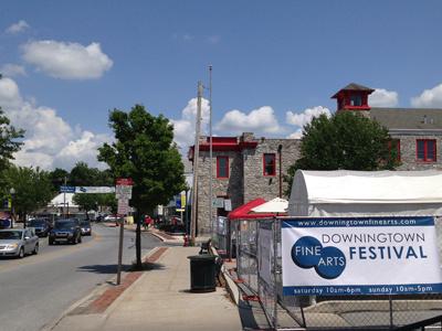 Fine Art Fest Banners festival downingtown fine art banner