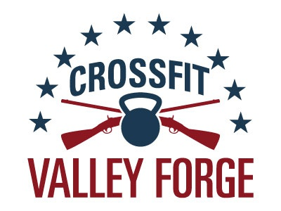 CrossFit Valley Forge Final crossfit valley forge logo america flag stars final