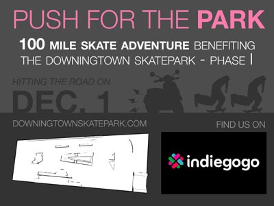 Push for the Park skateboarding endurance skatepark fundraiser