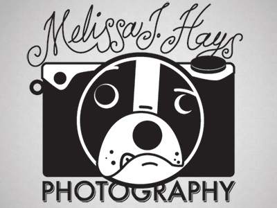 Melissa Hays Logo 1 photography logo lettering dog