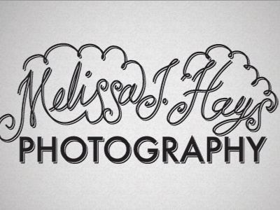 Melissa Hays Logo 2 logo photography lettering
