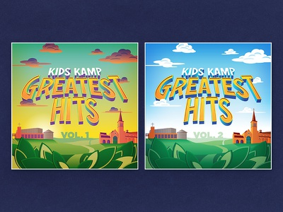 Vacation Bible School Greatest Hits vacation bible school album cover buildings music cd type clouds day sunrise dawn illustration