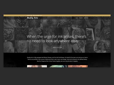 Tattoo Shop Homepage