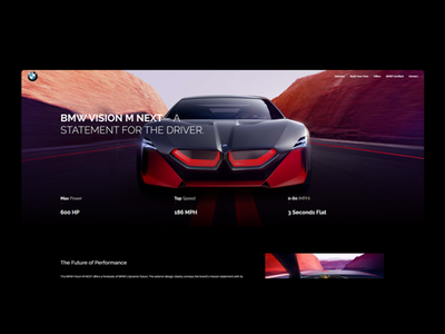 BMW VISION NEXT Homepage