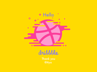 hello dribbble inset illustrations font player first shot gui ui line shot pink basketball icon