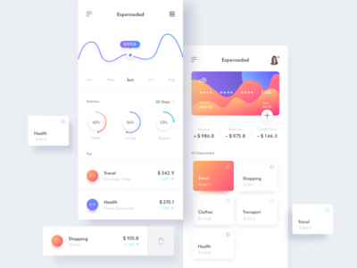 Dashboard 01 ux ui minimal interface admin exchange infographic data dashboard mobile app