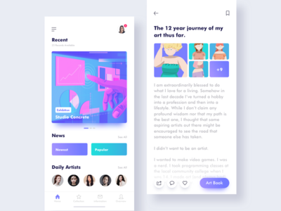 Art News news illustration colors icon story art ios ux ui app