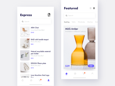 Shopping Online 02 layout page online shop photograph ios minimal app ux ui
