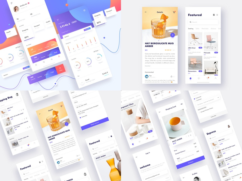 My best shots of 2018 design page online layout app ux ui