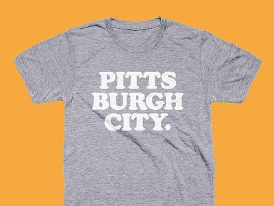 Pitts Burgh City pittsburgh cooper black typography tee