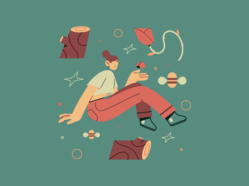 Camping illustration art camping camp forrest vector character characterdesign motion aftereffects illustrator design animation flat illustration