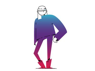 Cool Kids gradients characterdesign illustrator design illustration