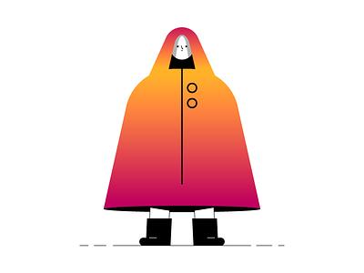 No sabia que llovia tanto... gradient characterdesign vector illustrator flat illustration