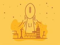 Super Bowl Illustration