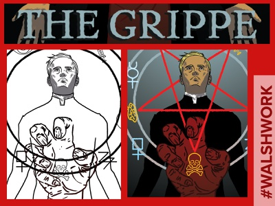 The Grippe horror supernatural paranormal storytelling comics creepy graphic novel illustration