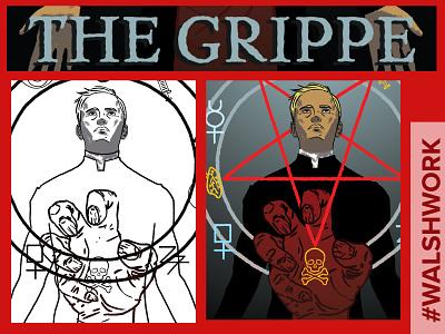 The Grippe horror supernatural paranormal storytelling comics creepy graphic novel illustration
