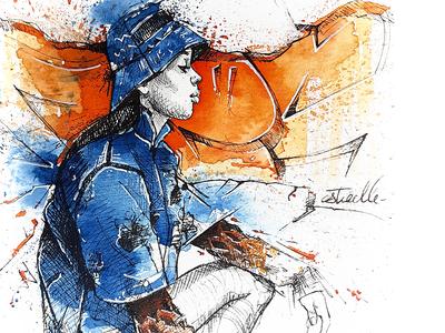 Hip-hop watercolor