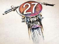 Watercolor Motorbike - Final