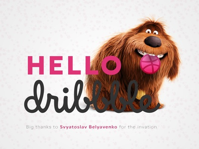First shot on Dribbble illustration thanks first shot debut the secret life of pets dribbble