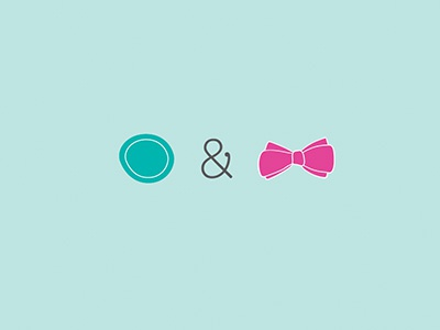 Buttons & Bows Boutique Icons button earrings teal pink ampersand bows typography