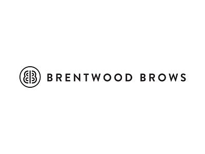 Brentwood Brows brandon grotesque illustration typography black branding