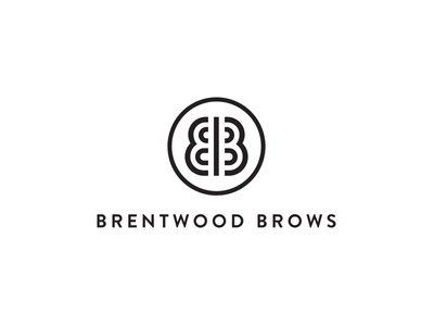 Brentwood Brows Logo Stacked