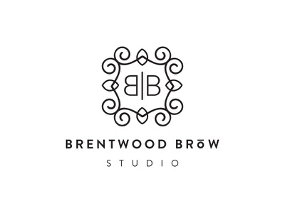 Brentwood Brows No brandon grotesque typography scrollwork enclosure frame black illustration