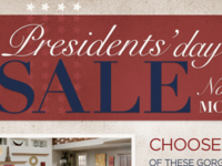 Presidents' Day Sale header