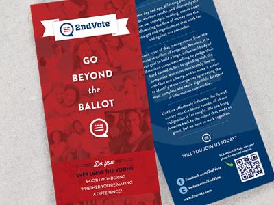 2ndVote Handout print red white blue logo texture political cs4 branding brandaid