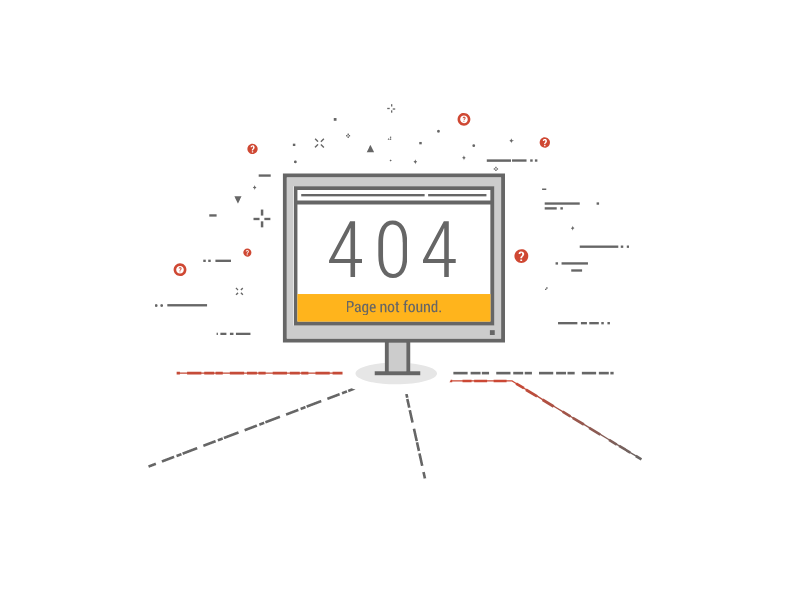 404 Page by Abbey Fitzgerald on Dribbble