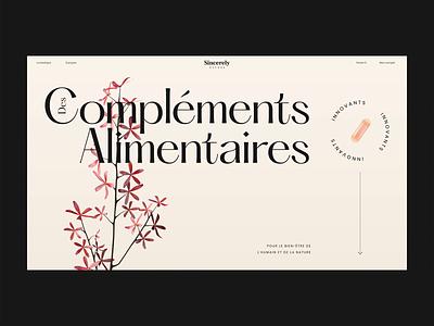 Sincerely Nature ux ui food healthy plants webdesign website e-commerce e-shop